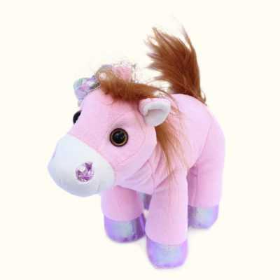 Лошадка розовая с бубенцами (1)