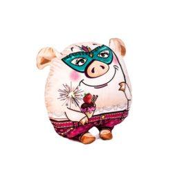 Свинка Сплюшка с клубничкой (с кармашком для конфет) 17.69.3